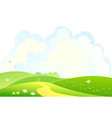 Green hills background vector image vector image