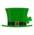 green leprechaun hat on white vector image vector image