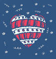 greeting card or t-shirt print for valentines day vector image