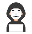 hacker icon profession and job vector image vector image