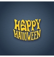 Halloween card with modern lettering style sign vector image