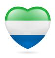 Heart icon of Sierra Leone vector image