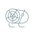 heat gun linear icon concept heat gun line vector image vector image