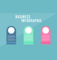 infographic design business concept collection vector image