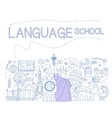 Language School Infographics vector image