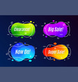 linear promotion banner shape templates sticker vector image
