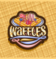 logo for belgian waffles vector image vector image