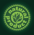 logo printing brand natures product vector image vector image