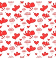 Love cupids hearts arrows and clouds seamless vector image vector image
