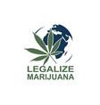 marijuana on earth vector image vector image
