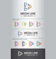 media line logo template best for branding vector image