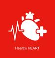medical logo healthy heart vector image