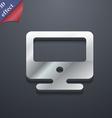 monitor icon symbol 3D style Trendy modern design vector image