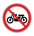 no motocycle sign vector image vector image