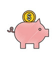 piggy coin bank saving or accumulation of money vector image