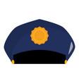 police hat uniform icon vector image