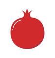 pomegranate design juicy fresh fruit icon vector image vector image