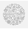 Productivity line round vector image