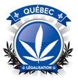quebec province cannabis legalisation symbol vector image vector image