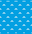 reconstruction pattern seamless blue vector image vector image