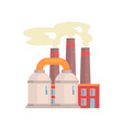 refinery plant industrial manufactury building vector image vector image