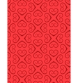 Seamless heart signs pattern Love birthday vector image vector image