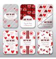 Set of valentine day and wedding templates card vector image vector image