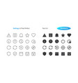 settings ui pixel perfect well-crafted thin vector image