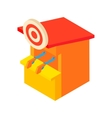 Shooting gallery icon cartoon style vector image