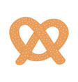 soft pretzel icon sweet salted bakery fast food vector image