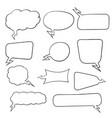 speech bubbles hand drawn sketch vector image vector image