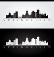 springfield usa skyline and landmarks silhouette vector image vector image