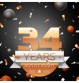 Thirty four years anniversary celebration vector image vector image