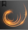 transparent swirl light effect with sparkles vector image vector image