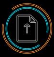 upload file icon - file document symbol vector image