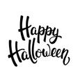 Happy Halloween brush lettering vector image