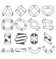set of empty emblems ribbons design elements for vector image