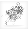 Abstract alphabet background sketch vector image