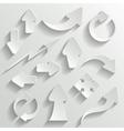 Arrows set vector image