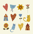 patchwork set of characters vector image