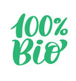 100 bio logo design hand drawn lettering vector image