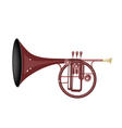 A Musical Straight Mellophone vector image vector image