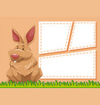 a rabbit on blank note vector image vector image