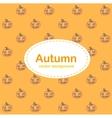 Autumn background with Halloween pumpkin vector image vector image