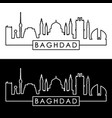 baghdad skyline linear style editable file vector image vector image