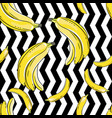 bananas on black and white background seamless vector image