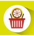 basket market grapefruit icon design vector image