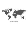 blank grey political world map isolated on white vector image vector image