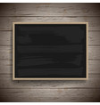 blank vintage chalk board background vector image vector image