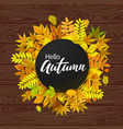 bright banner for autumn sale vector image vector image